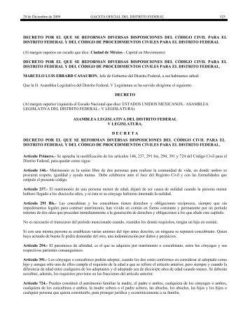 decreto por el que se reforman diversas disposiciones del código