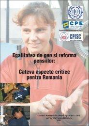Egalitatea de gen si reforma pensiilor - Centrul Parteneriat pentru ...