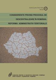 considerente privind procesul de descentralizare în românia ...