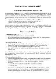 Zásady pro činnost uměleckých rad ZUŠ