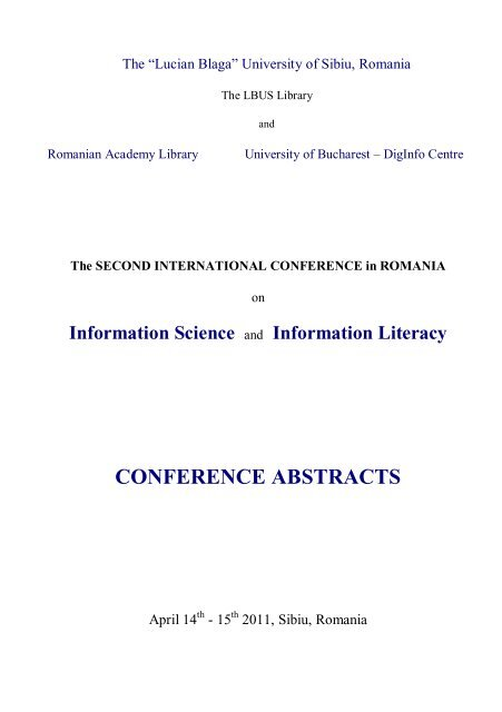 Information Science - Biblioteca Universitatii
