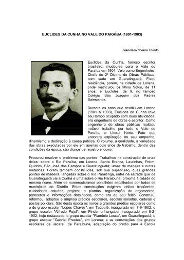 euclides da cunha no vale do paraíba (1901-1903) - Portal Vale do ...