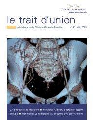 La radiologie «au secours - Clinique Générale-Beaulieu