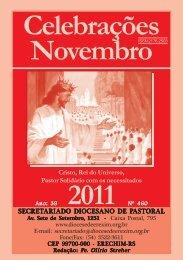 celebrações novembro 2011.pmd - Diocese de Erexim