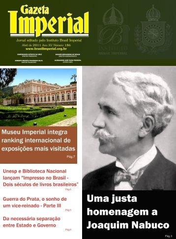 Uma justa homenagem a Joaquim Nabuco - Brasil Imperial
