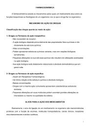 FARMACODINÂMICA A farmacodinâmica estuda os mecanismos ...