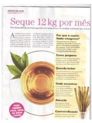 Dieta do Capim-limão / Revista Viva Mais - Emagrecentro
