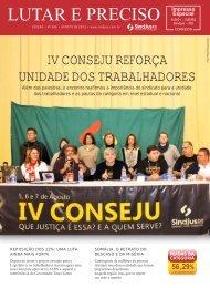 IV CONSEJU REFORÇA UNIDADE DOS TRABALHADORES