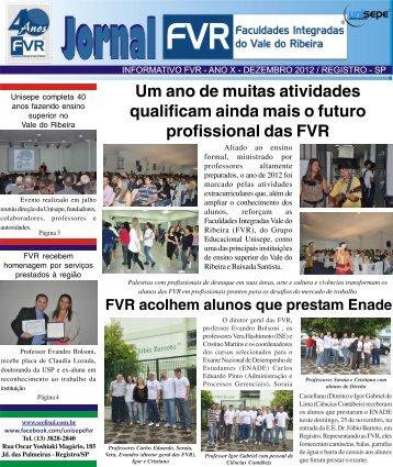 Dezembro de 2012 - Faculdades Integradas do Vale do Ribeira