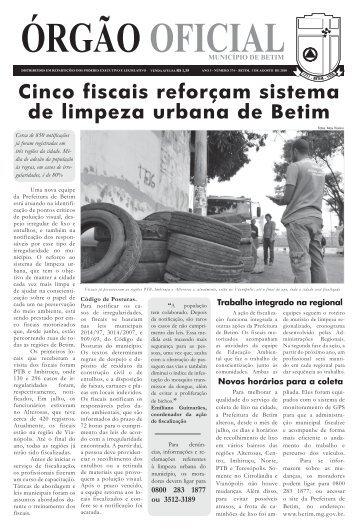 Cinco fiscais reforçam sistema de limpeza urbana de Betim