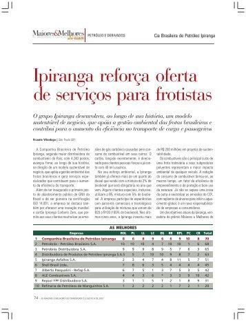 Ipiranga reforça oferta de serviços para frotistas - Revista Transporte ...