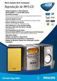 MCM250 Reprodução de MP3-CD - Philips