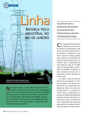 Linha reforça pólo industrial no Rio de Janeiro - Furnas