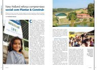New Holland reforça compromisso social com Plantar & Construir