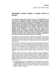 Abordagem comum reforça a coesão social na Europa