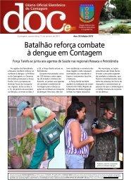 Batalhão reforça combate à dengue em Contagem - Prefeitura de ...