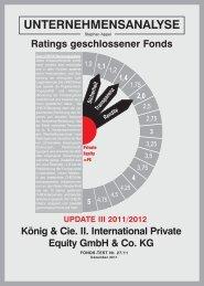 König & Cie I. International Private Equity gmbH ... - CHECK-Analysen
