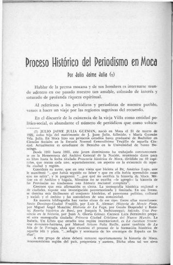 Proceso Histórico del Periodismo en Moca - BAGN