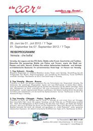 25. Juni bis 01. Juli 2012 / 7 Tage 01 ... - Autobus AG Liestal