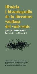 Història i historiografia de la literatura catalana del - Societat ...