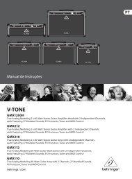 V-TONE GMX1200H/GMX212/GMX210/GMX112/GMX110 - Behringer