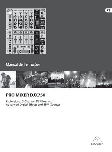 PRO MIXER DJX750 - Behringer