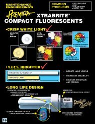 Premira Compact Fluorescent Lamps - S and B Lighting