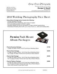 Premira Flush Mount Album Packages - George Simon Photography