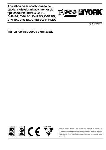 Manual de Instruções e Utilização Aparelhos de ar condicionado de ...