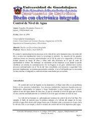 Control de Nivel de Agua - Universidad de Guadalajara