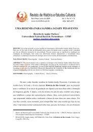 uma resenha para sandra jatahy pesavento - FÊNIX - Revista de ...