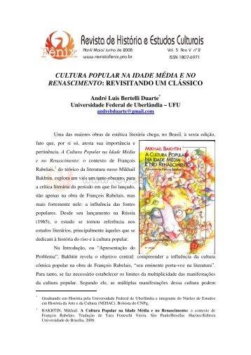 cultura popular na idade média e no renascimento - FÊNIX - Revista ...