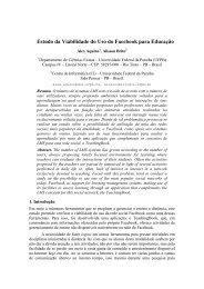 Estudo da Viabilidade do Uso do Facebook para Educação - Imago
