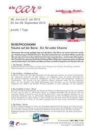 26. Juni bis 2. Juli 2012 23. bis 29. September ... - Autobus AG Liestal