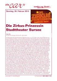Die Zirkus-Prinzessin Stadttheater Sursee