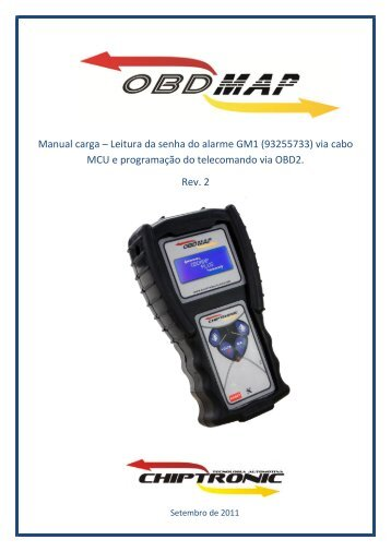 Manual carga – Leitura da senha do alarme GM1 ... - obdmap