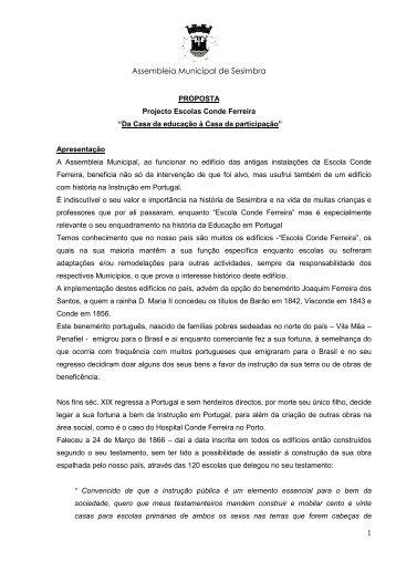 """JÁ ESTÁ À VENDA O LIVRO """"Escolas Conde de Ferreira - Marco ..."""