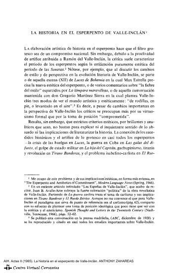 Actas II. AIH. La historia en el esperpento de Valle-Inclán ...