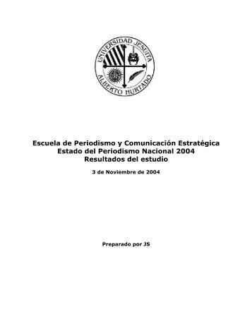 Estado del Periodismo al año 2004 (PDF) - Colegio de Periodistas ...