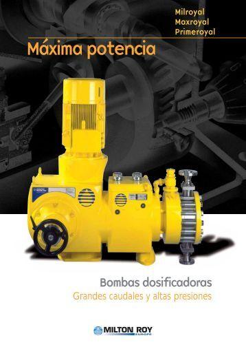 Bomba dosificadora de membrana hidraulica. General - Sistec