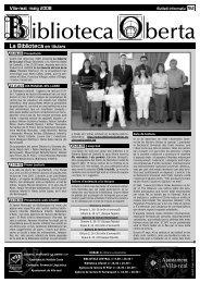 Biblioteca Oberta 92 - maig 2008