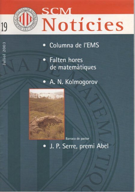 Juliol 2003 - IEC - Institut d'Estudis Catalans