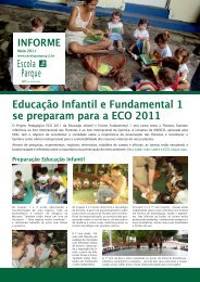 Educação Infantil e Fundamental 1 se preparam ... - Escola Parque