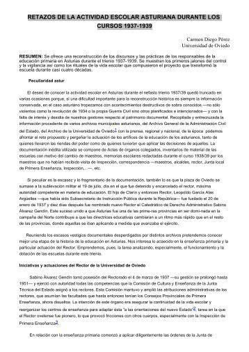 retazos de la actividad escolar asturiana durante los cursos 1937 ...