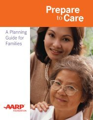 A Planning Guide for Families - aarp