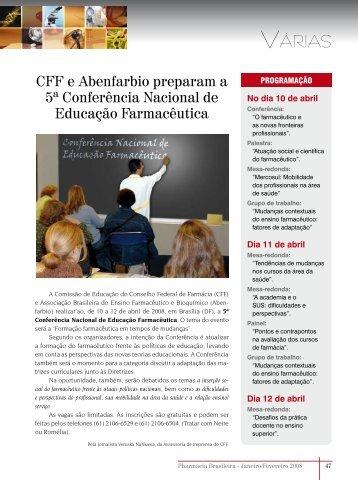 CFF e Abenfarbio preparam a 5ª Conferência Nacional de ...