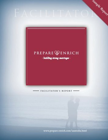 Sample Facilitator's Report - Prepare-Enrich