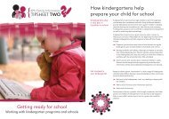 Getting ready for school How kindergartens help prepare your child ...