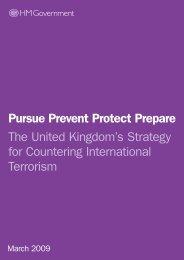 Pursue Prevent Protect Prepare The United Kingdom's ... - MERLN