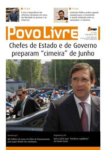 """Chefes de Estado e de Governo preparam """"cimeira"""" de Junho"""